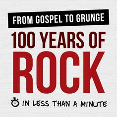 Watch the development of rock music unfold and listen to it's musical influence over the past century.