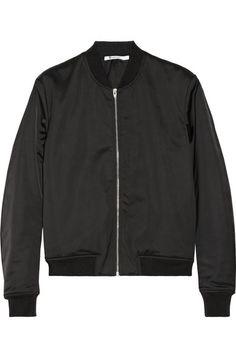 T by Alexander Wang - Satin bomber jacket