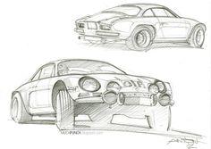 gashetka:  1967-1978   Renault Alpine A110   Sketches by Anton Shamenkov (Renault Design Team)
