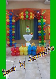 Elmo Balloon Decorations by Decor by Jeannette