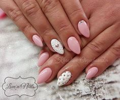 Mr.White & Little Pink + sugar effect by Karolina Orzechowska Double Tap if you like #mani #nailart #nails #pastel Find more Inspiration at www.indigo-nails.com