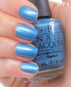 Love blue nail polishes!