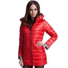 Women's Full-Zip Hooded Down Coat