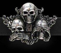 Skulls..see no evil,hear no evil, speak no evil