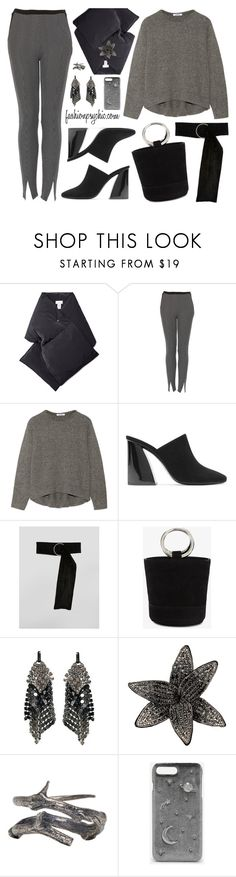 """""""Grey And Black"""" by fashionpsychic on Polyvore featuring Raey, Topshop, Helmut Lang, Mercedes Castillo, ASOS, Simon Miller, Laura B, Yves Saint Laurent, Pearls Before Swine and CHARLES & KEITH"""