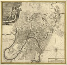 Vintage Map of  Moscow Russia 1745 https://www.etsy.com/listing/154692018/vintage-map-moscow-russia-1745 #Russia #Moscow