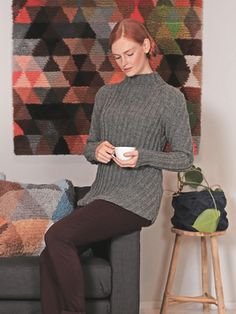 Naisen kohoneulepusero Novita 7 Veljestä | Novita knits