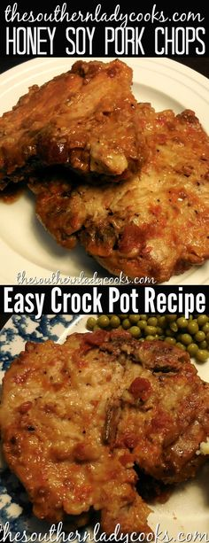 Crock pot honey soy pork chops is an easy recipe for comfort food that makes great gravy along with the chops to serve over potatoes, pasta or rice. An easy recipe you will make for your family often. #pork #porkchops #crockpot #slowcooker #honey #comfortfood #recipes #easyrecipes #recipes #maindishes