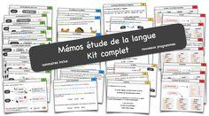 Mémos étude de la langue