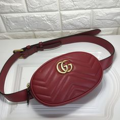 Gucci marmont waist chest bag original leather version