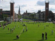 Kaatsen In Franeker, Netherlands. Kaatsen is an ancient Frisian ball game