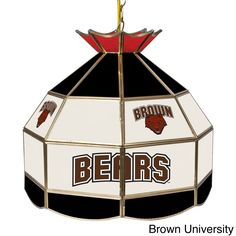 Trademark Gameroom Collegiate Teams Stained 16-inch Tiffany Lamp