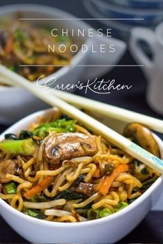 This delicious recipe for Lo Mein is so quick and easy you'll be asking yourself why you haven't been making it at home all along! #perfectchinesenoodles #errenskitchen Healthy Chinese Recipes, Authentic Chinese Recipes, Asian Recipes, Healthy Recipes, Ethnic Recipes, Chinese Noodle Recipes, Oriental Recipes, Oriental Food, Al Dente