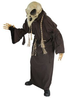 This Adult Crow Skull Costume will let you be the macabre bird of the afterlife! Gather your victims and usher them into the afterlife with this terrifying costume!