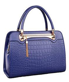 11eab0f280 ILISHOP Hot Sale Women's Genuine Leather Tassel Casual Crocodile Top Handle  Tote Shoulder Crossbody Bag Satchel Purse Handbag (Yellow)