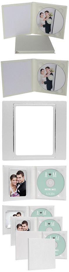 Classic Single CD Holder Wedding White Leather CD/DVD Case Folio