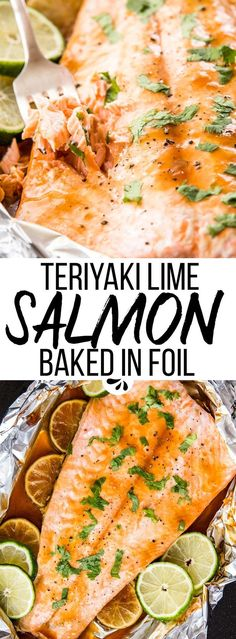 This Honey Teriyaki Lime Salmon Baked in Foil is a super easy dinner recipe you can whip up in under 30 minutes. You can either use homemade honey teriyaki sauce or store bought for an even quicker meal. Serve it with your favorite grain and/or veggie sides, for a clean eating, satisfying, healthy main meal the whole family will enjoy. via @savorynothings