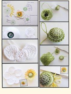 وردة Wire Crochet, Tunisian Crochet, Irish Crochet, Crochet Flower Patterns, Crochet Flowers, Crochet Poppy, Mercerized Cotton Yarn, Making A Bouquet, Fabric Brooch