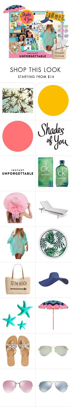 """""""Shades of You: Sunglass Hut Contest Entry"""" by siam-tulip on Polyvore featuring Calvin Klein, Skargaarden, Style & Co., Post-It, Dot & Bo, Sunnylife, ASPIGA, Tiffany & Co., Miu Miu and Ray-Ban"""