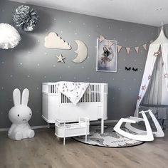 Love this beautiful kid's room by @stine.moi  Rosaline doll bed, Miffy lamp and OYOY The World rug are all available online  . #kidsroom #kidsroomdecor #kidsinterior #nordichome #nordicinspiration