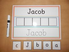 I can Write and Spell my Name - Personalised Name Card - EYFS, SEN, Toddlers, Early learning, letter Name Writing Activities, Name Activities Preschool, Preschool Writing, Preschool Learning Activities, Preschool Classroom, Classroom Activities, Activities For 3 Year Olds, Eyfs Activities, Preschool Alphabet