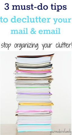 Day 5: Declutter my mail (No more piles of mail in your house!)