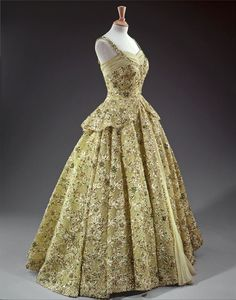 ~Evening dress designed by Norman Hartnell for Queen Elizabeth II, 1950s From the Royal Collection~