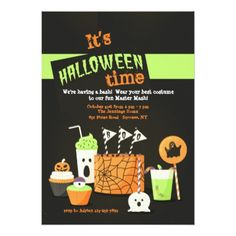 #Halloween Treats Invitation - #Halloween happy halloween #festival #party #holiday