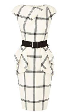 Karen Millen Graphic Check Dress : Dresses