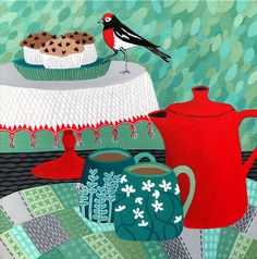 """Will You Share With Red Robin"" by Lisa Frances Judd. Paintings for Sale. Bluethumb - Online Art Gallery"