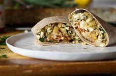 High Protein Vegan Breakfast Burrito  by Angela Liddon  Prep Time: 20 mins  Cook Time: 20-25 mins  Keywords: stove top breakfast sandwich lunch dairy free vegan vegetarian gluten-free option tofu
