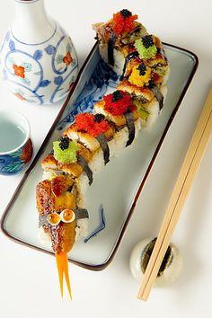 Dragon roll design 2 #Sushi #Sushimi