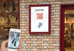 QR code send just arrived items to customers.
