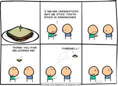 Sticks in sandwiches