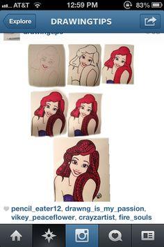 How to draw Ariel