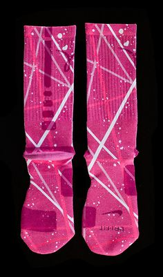 The Most Wanted Custom Nike Elite Socks - Thesockgame.com — Breast Cancer Elites - Custom Nike Elite Socks