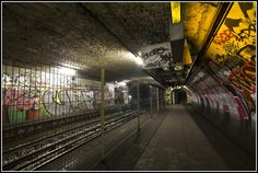 Arsenal Ghost Station, closed during WW2 on September 2, 1939, and never reopened.