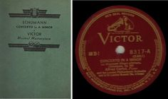Cortot, Alfred / Schumann: Concerto in A Minor (Op. 54) / Victor (Red Seal) AM-39 (1934), $34.00