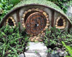 Hobbit House for Miniature Garden, Fairy Garden #miniaturegardens