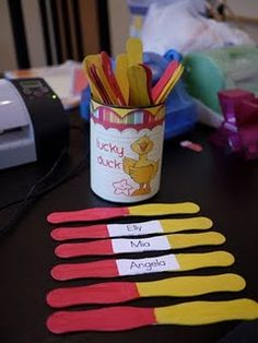 paint the sticks two colors so you know who you have called on!  @Lacey Inman