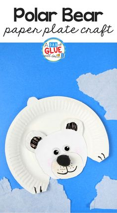 Easy winter crafts for kids with Polar Bear Paper Plate Craft. This is great for your habitats unit study or paper plate crafts this winter. Add in fine motor work and scissor work for your students too. This bear craft is a great five minute craft for your art class! via @dabofgluewilldo