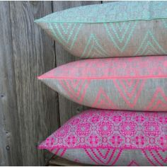 Amira Peach cushion by The Home Collective