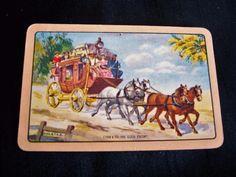 VINTAGE COLES SWAP CARD COBB & CO THE GOLD ESCORT