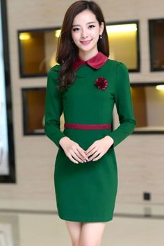 Peter Pan Collar Sheath Dress