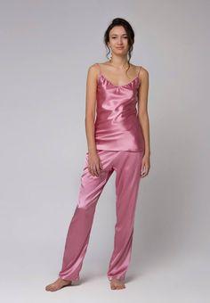 Long silk pajama set Natural silk pajamas Silk pyjama Silk top Silk pants  Silk sleepwear Silk Pjs Silk satin Unique Christmas gift for women 8f718b000