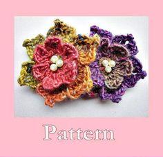 Sweet Soft Flowers Crochet Pattern pattern on Craftsy.com