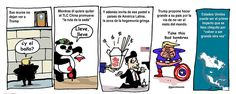"""Columbus (@ColumbusDM)   Twitter   """"Nuevo orden"""" por @Garcimonero vía @ElFinanciero_Mx #CaricaturaDelDía #Cartón #Moneros #FelizMartes #Trump #EUA #TLC #China #AmericaLatina"""