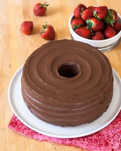Angel Food Cake with Chocolate Frosting | Flour Arrangements