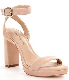 Antonio Melani Sarita Suede Ankle Strap Block Heel Platform Sandals #Dillards