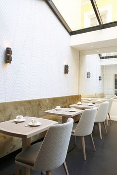 Hôtel Royal, Paris with stunning dining chairs!   Hospitality furniture #hospitalityprojects #leadinghotels #exclusiveresorts See more inspiration: http://www.brabbu.com/en/inspiration-and-ideas/category/world-travel/restaurant-bar